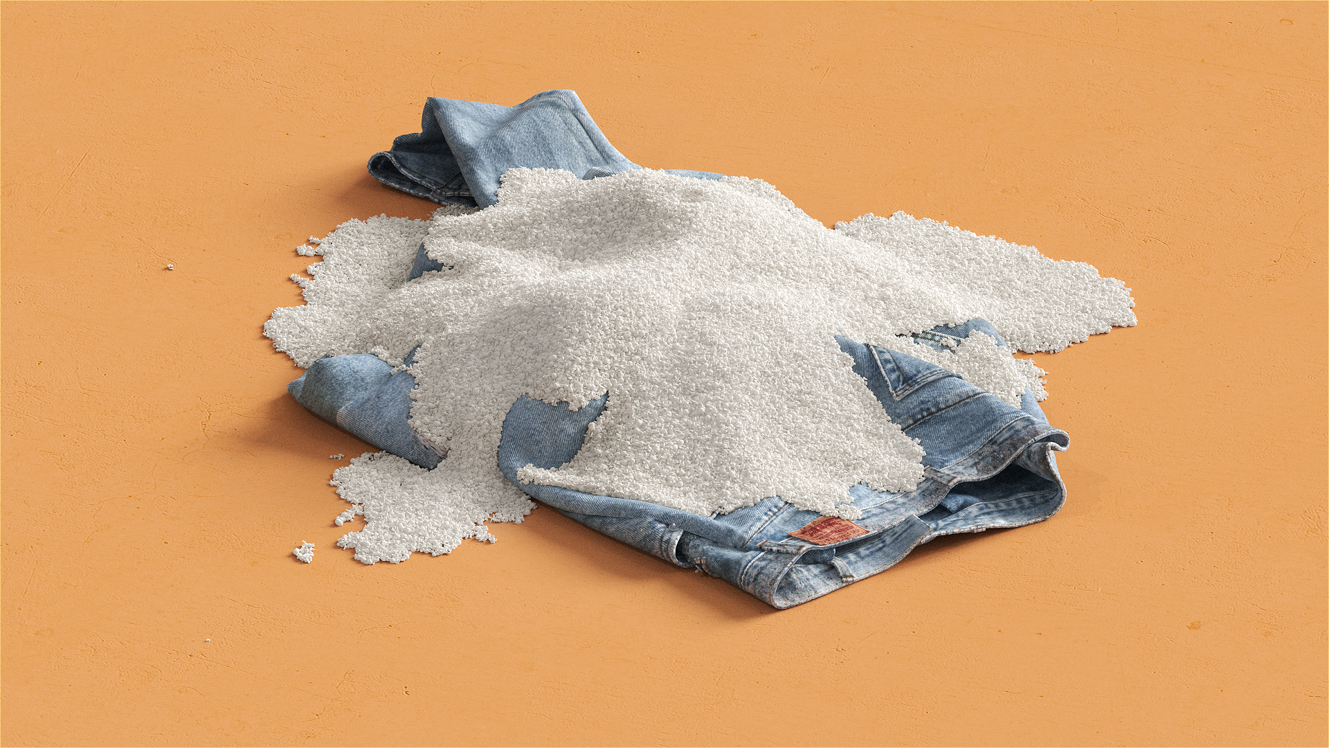 Circulose recycled from denim