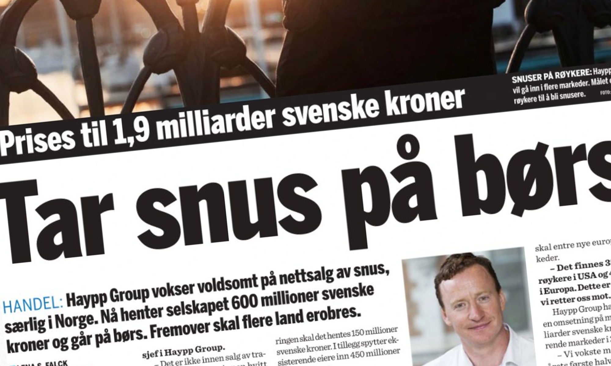 Article on Haypp Group's listing and growth in Norway